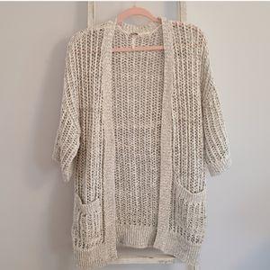 Free People♡ Medium Chunky knit wool alpaca blend open front cardigan